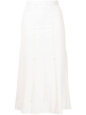 Biała spódnica wełniana Mrz