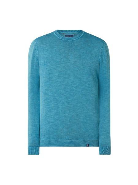 Sweter bawełniany - turkusowy Colours & Sons