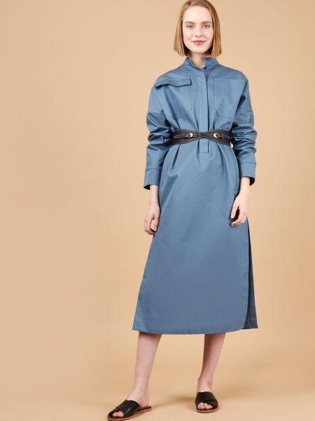 Платье миди с поясом с карманами 12storeez