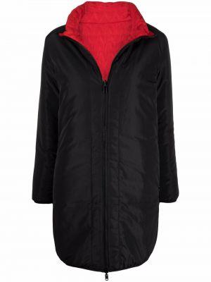 Пальто с капюшоном - черное Love Moschino