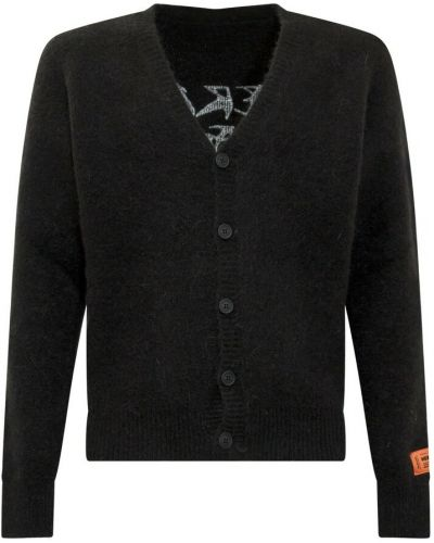 Czarny sweter moherowy Heron Preston