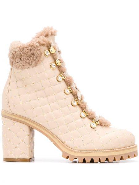 Ботильоны на каблуке - розовые Le Silla