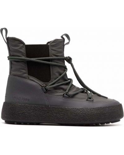 Кожаные ботинки челси - серые Moon Boot