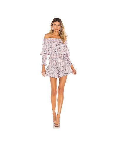 Платье розовое с бахромой Elliatt