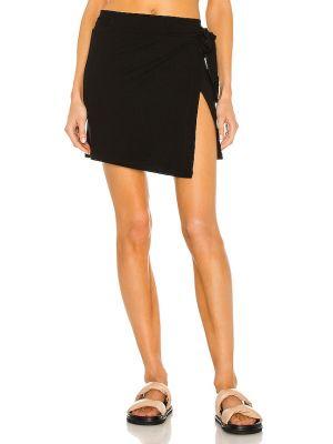 Черная кожаная юбка для полных Lna