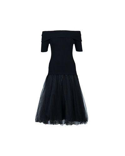 Черное платье из вискозы P.a.r.o.s.h.