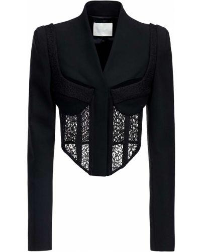 Шерстяная черная куртка с подкладкой Dion Lee