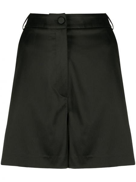 Однобортные черные короткие шорты с карманами Blumarine