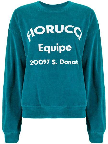 Niebieska bluza z długimi rękawami Fiorucci