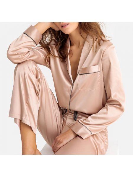 Пижама с брюками на пуговицах с рубашкой La Redoute Collections