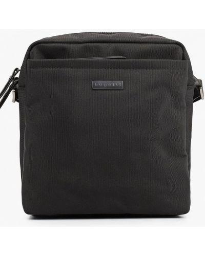 Нейлоновая сумка через плечо - черная Bugatti