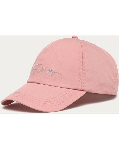 Różowy kapelusz materiałowy Tommy Hilfiger