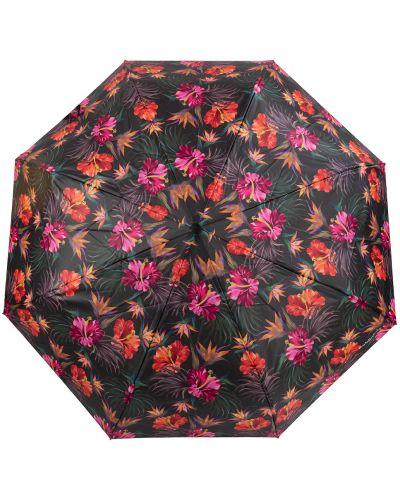 Прямой черный автоматический зонт на кнопках Baldinini
