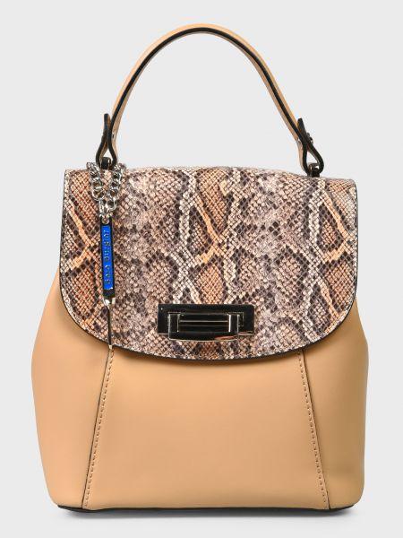 Кожаный рюкзак - бежевый Sara Burglar