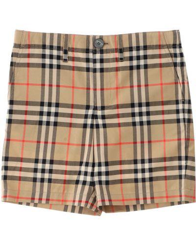 Beżowe spodnie bawełniane Burberry