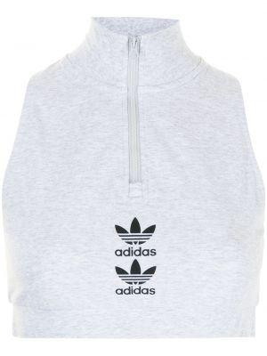 Укороченный топ - белый Adidas