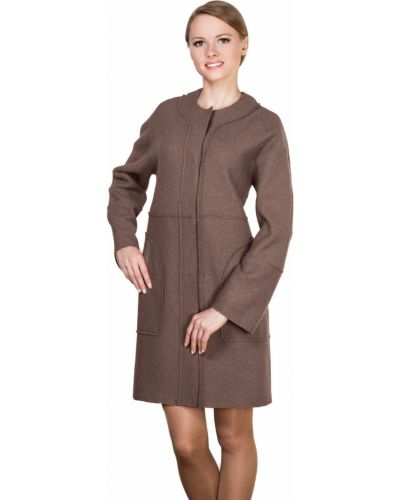Пальто на кнопках шерстяное J-splash
