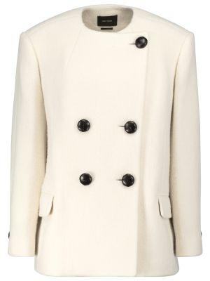 Белая шерстяная куртка Isabel Marant