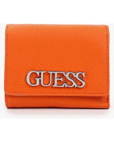 Оранжевый кошелек Guess