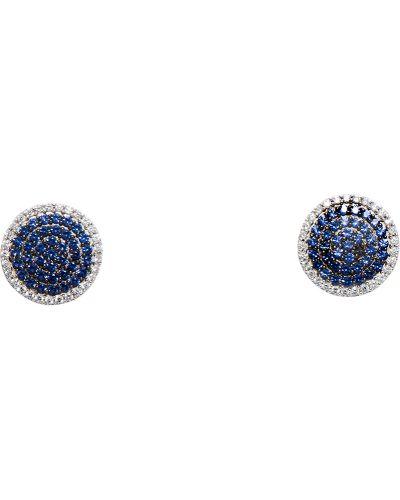 Серебряные серьги синий Apm Monaco