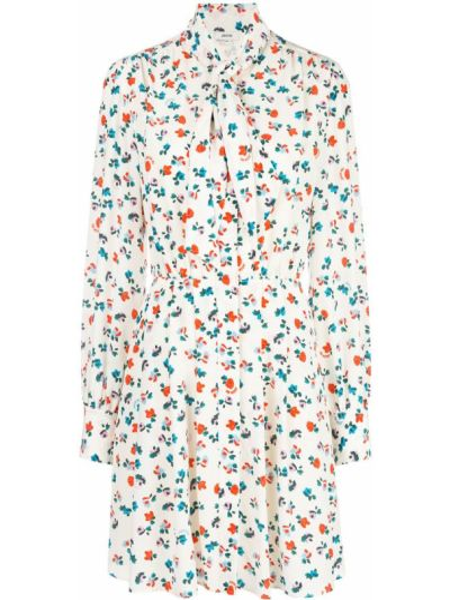 Белое прямое платье мини на пуговицах эластичное Jason Wu