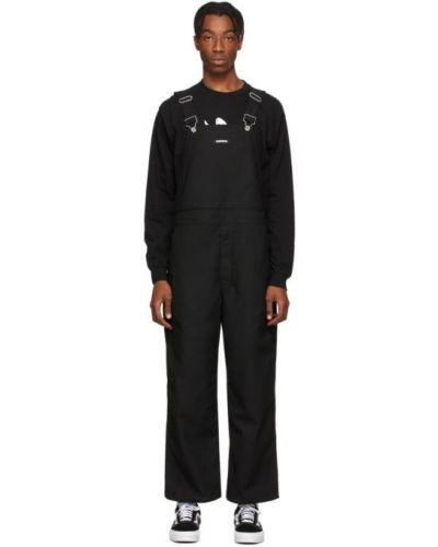Черный комбинезон с карманами на бретелях Neighborhood