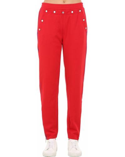 Спортивные брюки на кнопках - красные Rag&bone
