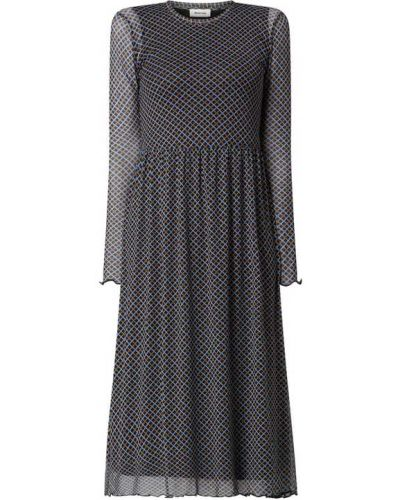 Sukienka midi z szyfonu - czarna Modström
