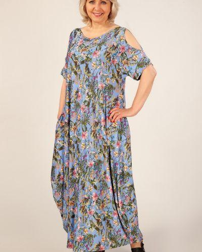 Летнее платье в стиле бохо с цветочным принтом милада