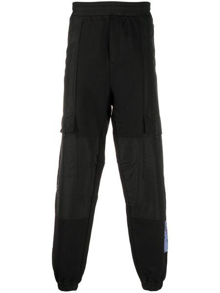 Bawełna czarny joggery z kieszeniami z mankietami Mcq Swallow