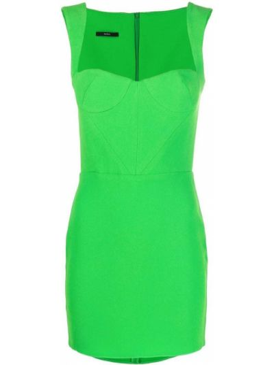Приталенное платье мини - зеленое Alex Perry