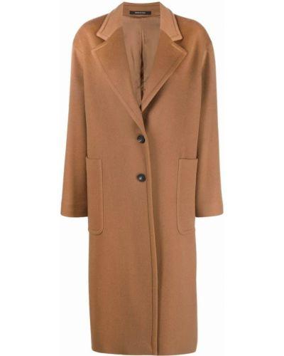 Коричневое пальто из верблюжьей шерсти Tagliatore