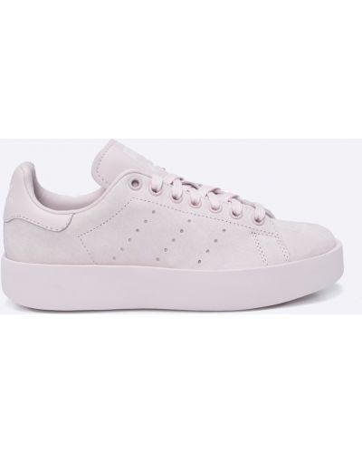 Розовые кроссовки на платформе Adidas Originals