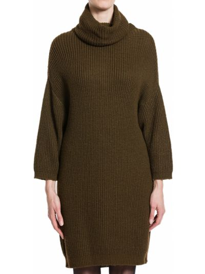 Шерстяное платье - зеленое Plein Sud