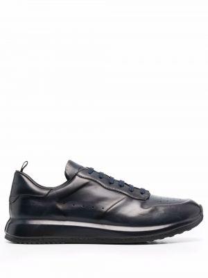 Синие кроссовки на шнуровке Officine Creative