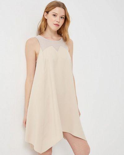 Бежевое платье весеннее Met