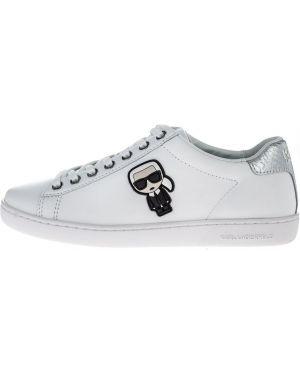 Кеды белые на шнуровке Karl Lagerfeld