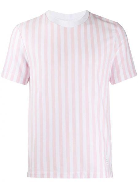 Koszula krótkie z krótkim rękawem z logo z łatami Thom Browne