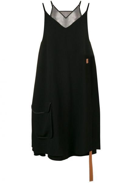 Платье с V-образным вырезом со складками Loewe