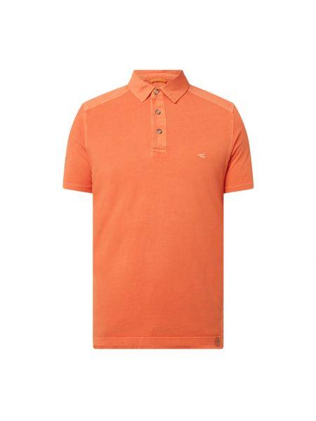 Pomarańczowy t-shirt bawełniany Camel Active