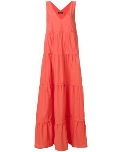 Хлопковое платье с V-образным вырезом Twin-set
