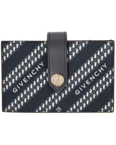 Brezentowy portfel skórzany złoto z łatami wytłoczony Givenchy