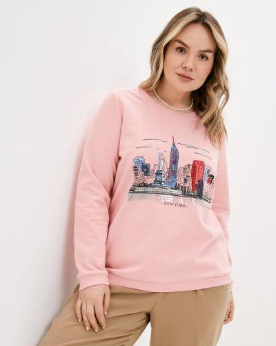 Розовый свитшот Ulla Popken