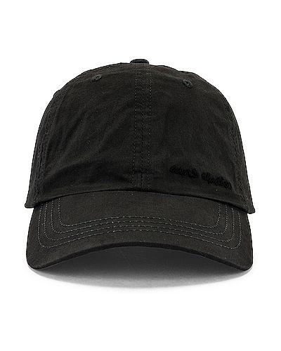 Niebieska czapka bawełniana z haftem Acne Studios