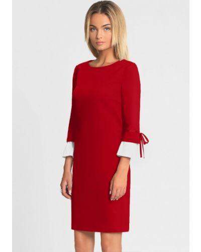 Прямое красное платье Prio