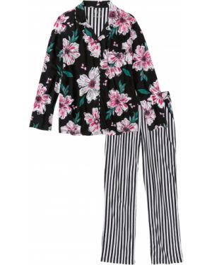 Пижама на пуговицах пижамный Bonprix