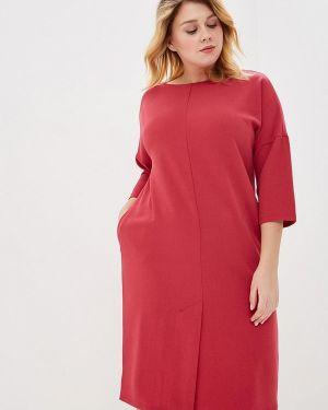 Повседневное платье розовое осеннее Svesta