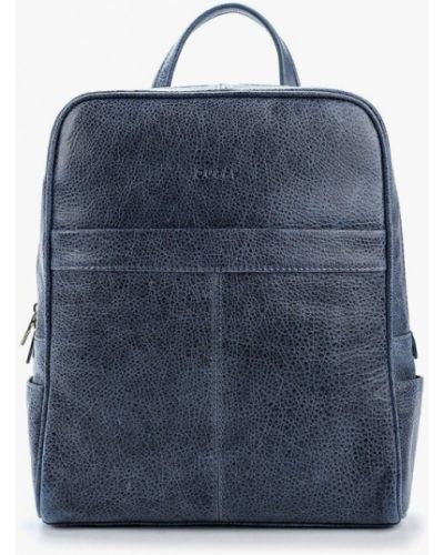 Синий кожаный городской рюкзак Duffy