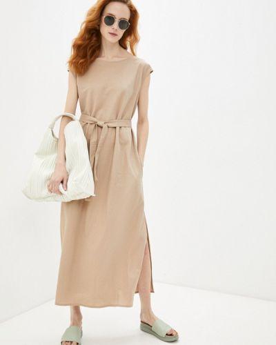 Повседневное бежевое платье Be Main