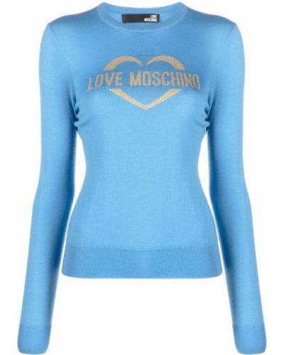 Синяя джемпер длинная Love Moschino